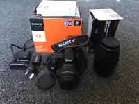 Sony A37 Digital Camera DSLR SLT- A37K with Sigma Lens 70-300mm