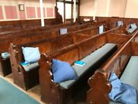 Large amount of chapel pews