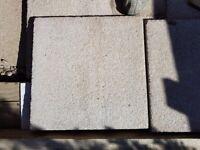 30 NEW Marshalls Saxon Mocha 450 X 450 X 35mm paving flags