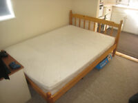 Pine Spindled Double Bed VERY Good Condition. With Mattress.
