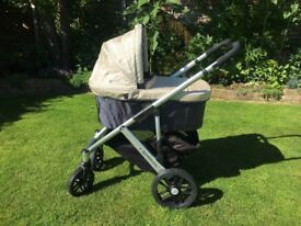 Uppababy Vista 2013 Lindsay / Wheat colour with extras travel system pram pushchair