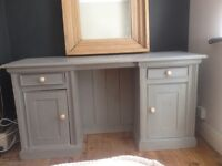 SHABBY CHIC DESK DRESSING TABLE WITH ZARA HANDLES