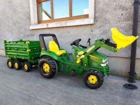 Rolly Toys John Deere Tractor and Trailer