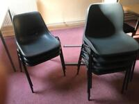 Black Plastic Stackable Chairs