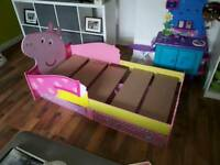 Toddlers Peppa pig bed