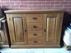 Solid oak sideboard cupboard