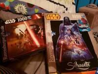 2 large Star Wars Jigsaws BNIB