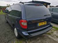 Chrysler Grand Voyager spares or repairs LPG conversion