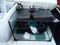 small fish tank - built in filter