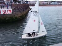 Laser 2 sailing dinghy including trailers and sails - boat all good to go