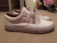 Vans 106 white leather size 8