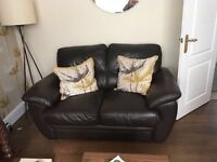 ***3 piece suite brown leather immaculate condition