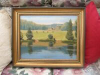 Paintings *3* by Gordon Macara (oil on canvas, of Allestree Hall & Park) Derby