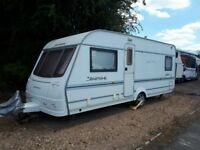 2005 4 Birth coachman pastiche Caravan complete set up and motor mover!