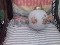Hanging ceiling globe light