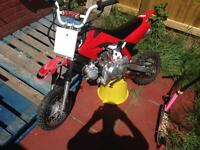 Geared pit-bike