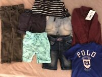 Boys Bundle of Clothing. Age 3-4. Including Ralph Lauren top and brand new River Island shirt.