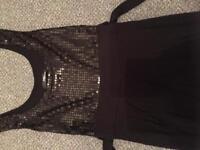 Jane Norman Black Sequin Dress
