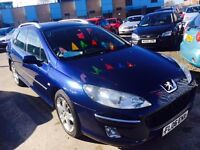 PEUGEOT 407 ESTATE 2.0 HDI DIESEL AUTOMATIC 136SE LUX PACK SW 2006 DRIVES NICE PANORAMIC