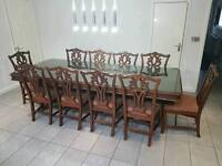 10 Seater Dining Table & Chairs
