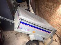Small metal trailer