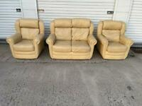 Leather sofa set free delivery locally