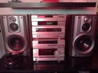 aiwa hifi system with speakers