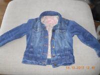 Denim jacket aged 7-8 years