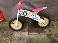 Kiddimoto Kurve Wooden Balance Bike