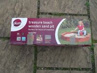 ***NEW*** PLUM TREASURE BEACH WOODEN SAND PIT