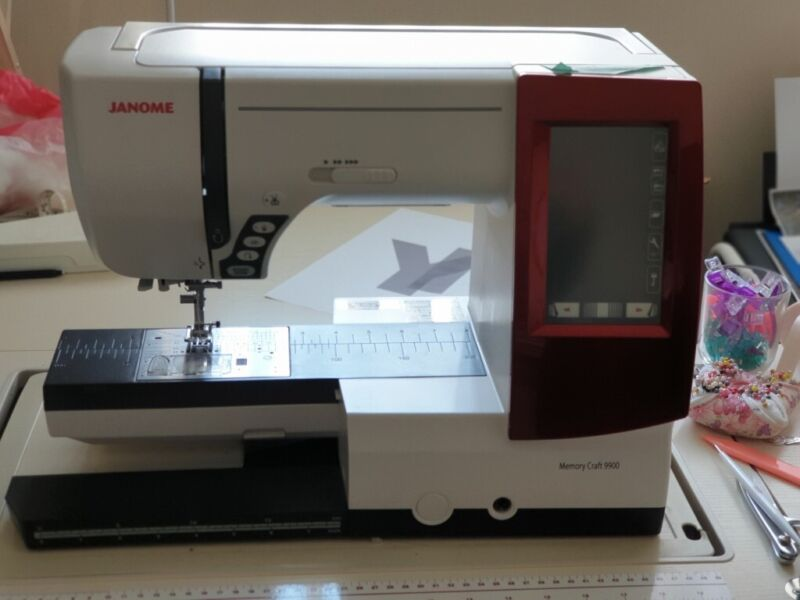 Used, Janome Memory craft sewing and embroidery machine with full digitizer software +sewing room contents for sale  Wakefield, West Yorkshire