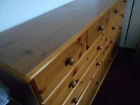 One large and one medium bedroom drawers in pine