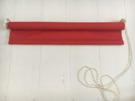 B&Q COLOURS RED BLIND SHADE WINDOW CURTAINS 22 inches / 56 cm