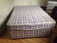 Double divan bed good condition available for collection central Edinburgh