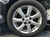 "Mazda 16"" alloys with tyres"