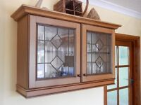 Kitchen Wall Cupboard with Leaded Glass