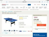 NEW STILL IN BOX TABLE TENNIS TABLE