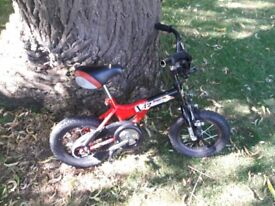 Red and black boys bike