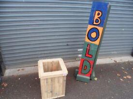 Handmade solid wooden planter