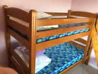 Quality 3ft bunk beds with mattresses