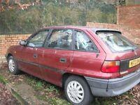 Vauxhall Astra Mk3 1996 1.4LS - repair project