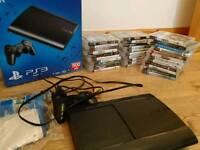 PS3 ultra slim 500 GB Plus 32 games