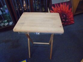 small fold away table.