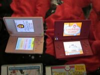 NINTENDO DSI AND DS LITE CONSOLE BUNDLE,6 GAMES,CHARGER