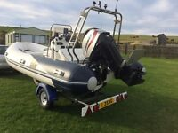 WETLINE 480 INFLATABLE RIB WITH MARINER 60HP FOUR STROKE ENGINE