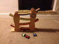 ELC Wooden click clack track with cars