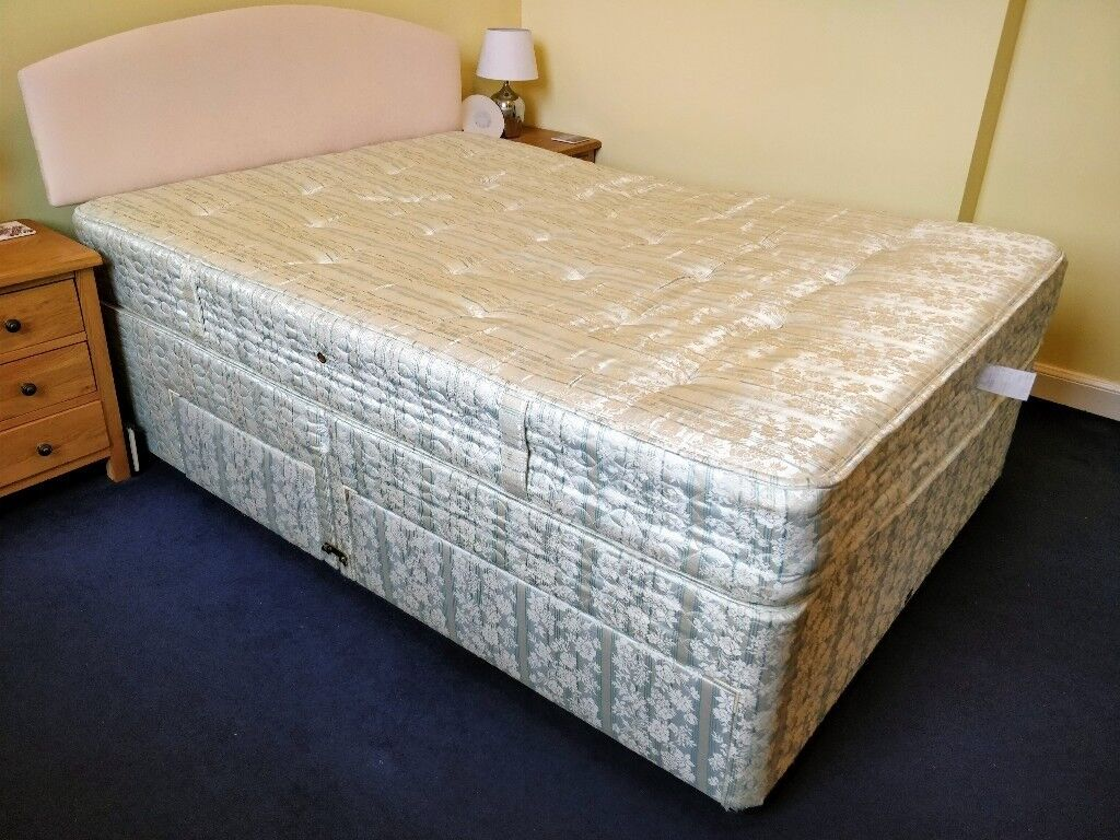 Double Divan Bed, including mattress and headboard
