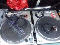 DJ Vinyl Technics 1200s decks turntables