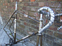 Vintage bike frame/bar set for project
