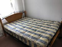 Double bed with mattress and all parts in good condition